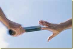 passing the baton is a great referral analogy