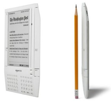 Amazon Kindle shows how slim it is